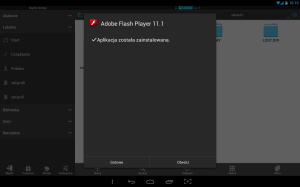 Instalacja Flash na tablecie