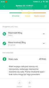 Waga Xiaomi. Analiza składu ciała w Mi Fit
